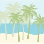 Palm Tree Silhouettes Paint Number Wall Mural