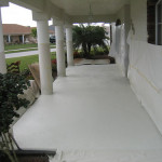 Patio Floor Tex Application After Paint