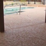 Pool Decking Crack Repairs Texture New Paint And Sealer