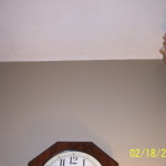 Popcorn Ceiling Painting Wall Clock