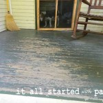 Porch Landing Linda Turned Her Worn Floor From This