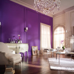 Purple Wall Painting Ideas For Beautiful Home Decoration