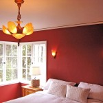 Red Color Paint Wall Bedroom Nice