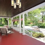 Red Painted Porch Floor