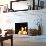 Related Post From Painting Brick Fireplace Ideas