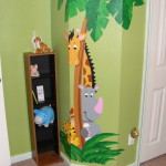 Rhino Friends Paint Number Mural