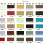 Scanned Toyota Paint Chart