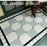 Shared About Using Porch Floor Paint Create Painted Rug
