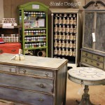 Shizzle Design Booth Hand Painted Furniture Chalk Clay Paint Ideas