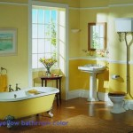 Simple Bathroom Decorating Ideas Yellow Paint