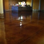 Stained Floor Ceramic Tile Custom Painting Remodeled