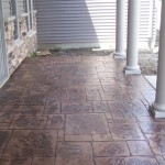 Stamped And Colored Concrete Porch Floor