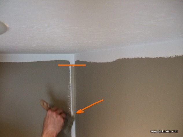 Start Inches Down From The Ceiling Line Lightly Loaded
