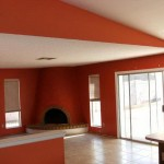 The Attractive Orange Red Paint For Home Interior