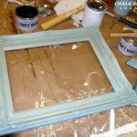 The Frame Tons Potential After Coat Blue Paint Over