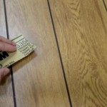 The Glossy Finish Plywood Paneling Has Sanded Before