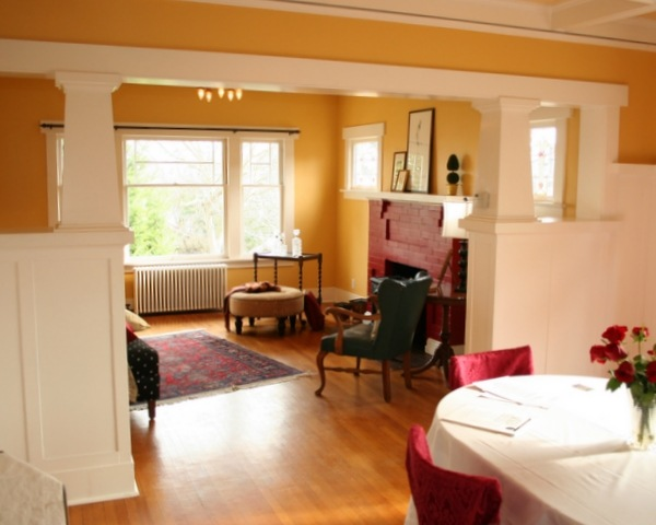 The Living Room For Example Was Painted Bright Egg Yolk Yellow