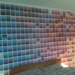 The Paint Chip Sample Wall Apartment Therapy