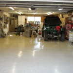 The Painted Concrete Floors For Fresh Room Appearance