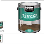 Then Went Behr Porch And Patio Floor Paint Two Different