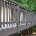 This Deck Was Powerwashed Then Stained Using Brush And Airless Paint