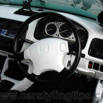 This Honda Dash Has Been Painted Retrimmed White Fantastic