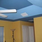 Tray Ceiling Starry Night And Bluebird Sky Peacock Painting