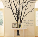 Tree Wall Decals Stickers Lovely Winter