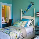 Turquoise Paint Colors Walls Boys Room