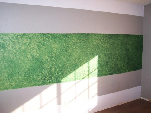 Ugly Wall Green Sponge Paint Glendale Arizona Foreclosure Home Real