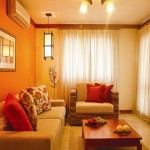 Voyage Yellow Orange Paint Colors Modern Living Room