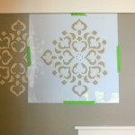 Wall Paint Designs Tapehow Stencil Focal Truly Devine