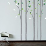 Wall Stencil Tree Birds Decal Painting