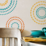 Wall Stencils Circling Elements For Modern Painting