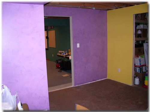 Walls Looked Great However The Purple You Could See Every