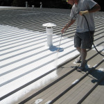 White Acrylic Elastomeric Coating System For Metal Roofs