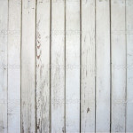 White Painted Wooden Wall Stock Image