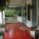 Wow Red Painted Porch Floor