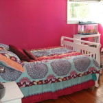 Year Old Big Girl Room Wall Painted Hot Pink Paint Form Behr