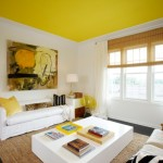Yellow Ceiling Paint Color Ideas White Wall For Living Room