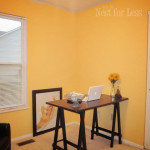 Yellow Paint Office Craft Room