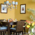 Yellow Wall Dining Room Paint