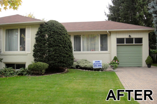 After Home Painters Painted The Exterior Brick North York