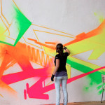 Artist Mad Painted New Wall Using The Molotow Neon Spray Paint
