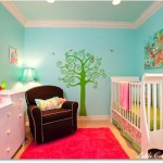 Baby Room Painting Ideas Green Tree Colour