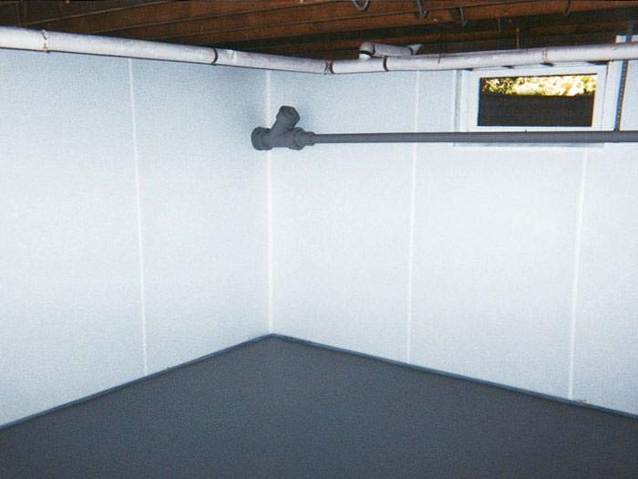 Basement Wall That Been Upgraded Plastic Paneling Will