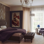 Bedroom Cool Paint Design Ideas Contemporary Style