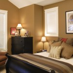 Bedroom Wall Decor Attach Soft Brown Panels Paint