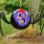 Birdhouse Gourd Halloween Decoration Adorable Spooky Spider From