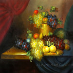 Bliss Still Life Wall Art Fruit Grape Peach